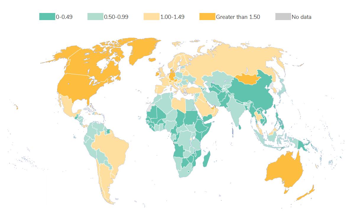 глобальная карта отходов мира